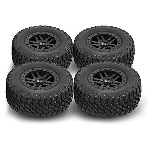 Globact 4Pcs/Set 1/10 Short Course Truck Tyres Traxxas Slash Tire for Traxxas Slash 4x4 2WD HSP Tamiya HPI Kyosho RC Model Car