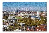 Savannah, Georgia - Savannah Skyline View Of Talmadge Memorial Bridge - Photography A-94818 94818 (Premium 500 Piece Jigsaw Puzzle for Adults, 13x19, Made in USA!)