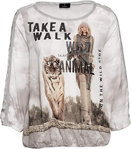 MONARI Damen Bluse Tiger Aufdruck 405334, Grössen:44, Farben:sesam Gemustert