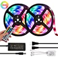 LED Strip Lights, FASHURN Color Changing 32.8ft/10M 300 LEDs Waterproof Flexible Light Strip SMD 5050 RGB Rope Lights with 44 Keys IR Remote Controller for Bar Kitchen Bedroom Home Decoration
