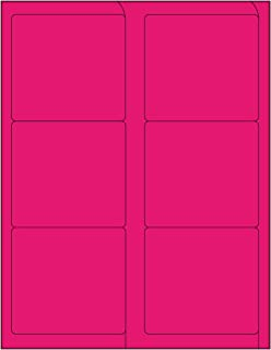 Compulabel Fluorescent Pink Address Labels for Laser Printers, 4 x 3-1/3 Inches Permanent Adhesive, 6 Per Sheet, 1000 Shee...
