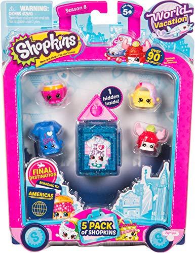 Shopkins Season 8 America Toy 5 Pack, Assorted