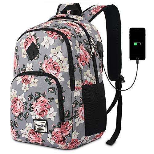 Schulranzen Mädchen,Tagesrucksack Frauen Schultasche Damen Rucksack mit Laptopfach für Schule Uni Ausflug Büro