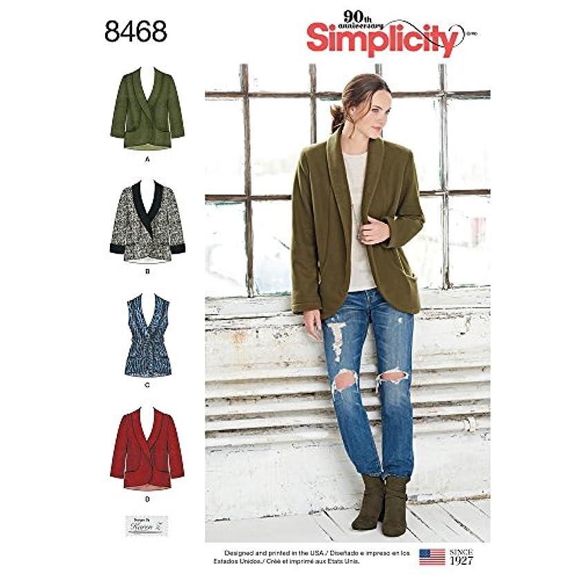 Simplicity Creative Patterns US8468A Sewing Pattern Tops, Vest, JKTS, Coats, A (A (XS-S-M-L-XL)