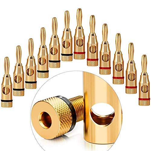 Vergoldet Bananenstecker für Kabel Boxen Verstärker AV-Receiver Endstufen HiFi Stereoanlagen lautsprecherkabel Flexibler anschluss der