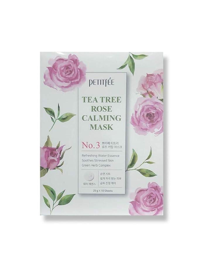 不安定考慮サッカーPETITFEE (プチペ) ティーツリーローズカーミングマスク25gx10P (保湿) / Tea Tree Rose Calming Mask