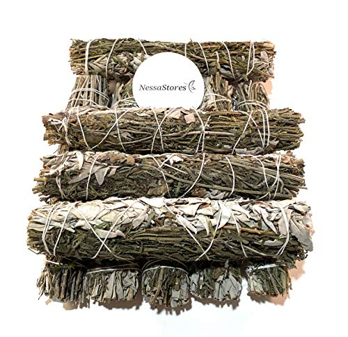 NESSASTORES - California White Sage + Lavender Smudge Incense 9' Bundle #JC-148 (3 pcs)