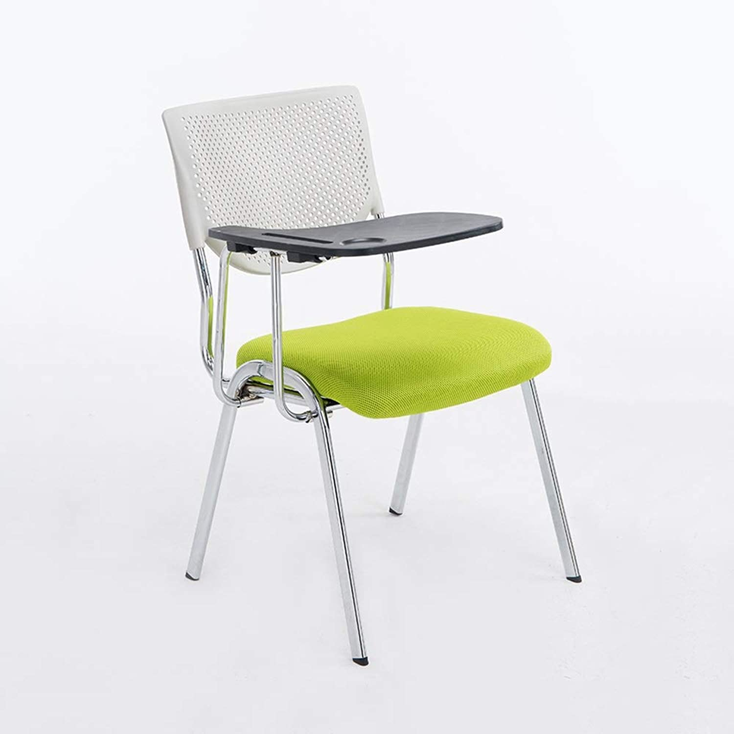 HPLL Folding Chair, Metal Folding Chair, Thick Sponge Seat and Backrest Computer Office 5 colors Optional Kitchen Folding Chair (color   B, Size   50X51X82cm)
