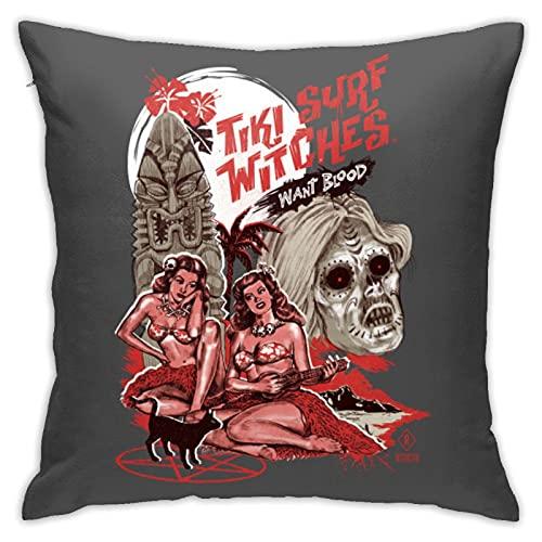 Tiki Surf Witches Want Blood - Fundas de almohada