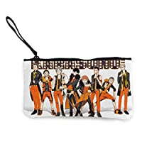 ハイキュー!! (4) 携帯に便利である 旅行用品ミニ財布 超軽量 小物入れポーチバン 化粧品袋 ミニ収納バッグ 男女兼用 薄型 旅行用品 携帯に便利であるズックの財布