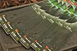 Korda NEW Ready Tied DF Carp Rigs Size 6 Barbless Pack of 5