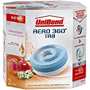 UniBond AERO 360° Moisture Absorber Fruit Sensation Refill Tab, Aromatherapy, Ultra-absorbent and Odour-neutralising, for AERO 360° Dehumidifier, Condensation Absorbers, Twin Pack (2 x 450 g)