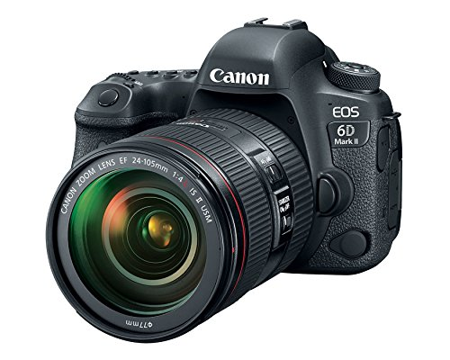 Canon EOS 6D Mark II DSLR Camera with EF 24-105mm USM Lens - WiFi Enabled (Renewed)