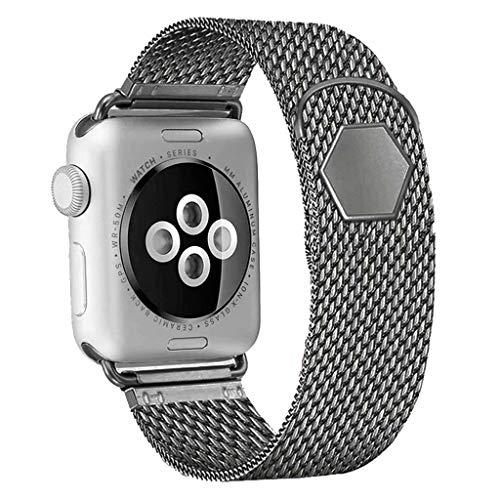 SSEIHI kompatibel mit Apple Watch Armband 42mm/44mm,Metall Edelstahl Ersatzarmband kompatibel starkem Magnetverschluss mit iWatch Series 5/4/3/2/1, Sport+, Edition,Space Grau