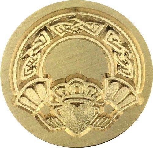 Traditional Irish Claddagh Design, 7/8' Diameter Wax Seal Stamp by Seasons Creations