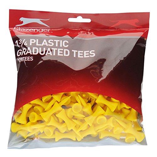 Slazenger Unisex Golftees mit Stoßschutz, Gelb, 130 Stück
