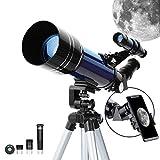 ESSLNB Telescope for Kids with Phone Adapter 70mm Beginners Telescopes for Astronomy