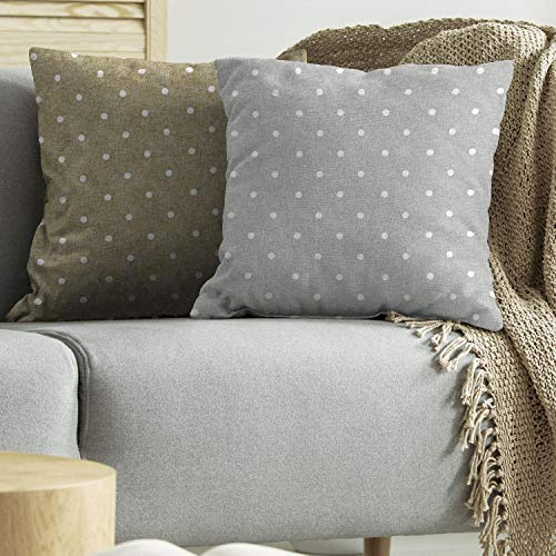 Tulipán - Cojines para silla con lunares grises, 6 unidades