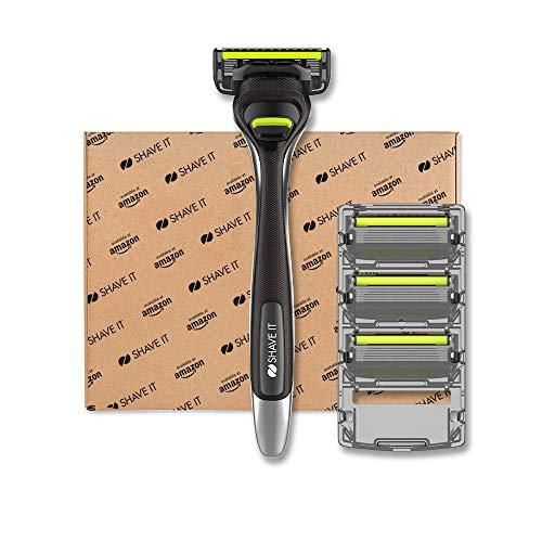 Shave It - 6-Klingen-Rasierer für Männer mit Griff und 4 Klingen