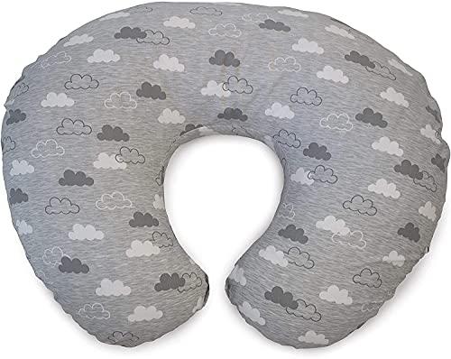 Chicco 04079902560000 BOPPY - Cuscino per allattamento con rivestimento in cotone, CLOUDS, colore: Grigio