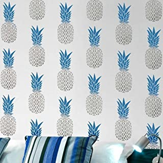 Pineapple Allover Stencil - Better Than Wallpaper - Trendy Wall Stencils for Wall Decor- Easy DIY Decor - By Cutting Edge Stencils