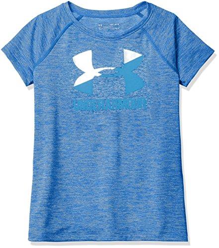 Under Armour Girls' Novelty Big Logo Short Sleeve T-Shirt,Lapis Blue /Mako Blue, Youth Large