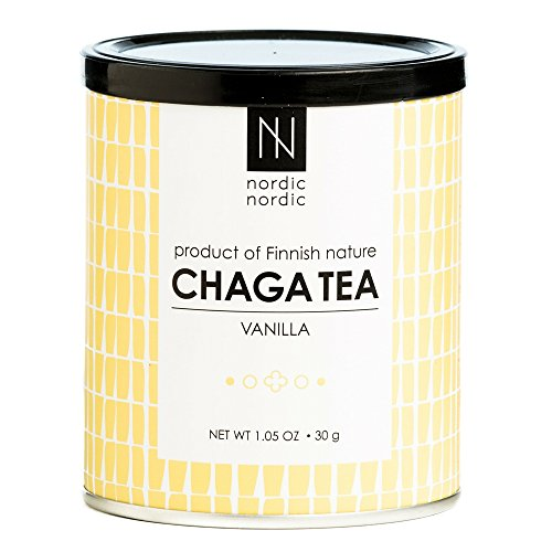 NordicNordic Chaga Mushroom Tea, Powerful Antioxidant, Natural, Vegan, Paleo, 20 Bleach-Free Tea Bags (Vanilla Flavor)