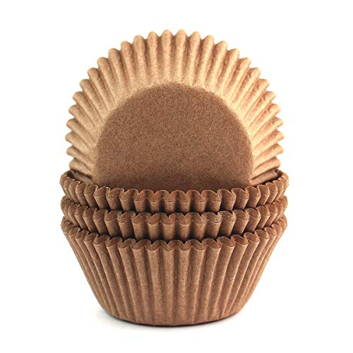 Eoonfirst Cupcake Liners Standard Size Odorless Food-Grade Greaseproof Paper Baking Cups100 Pcs (Natural)