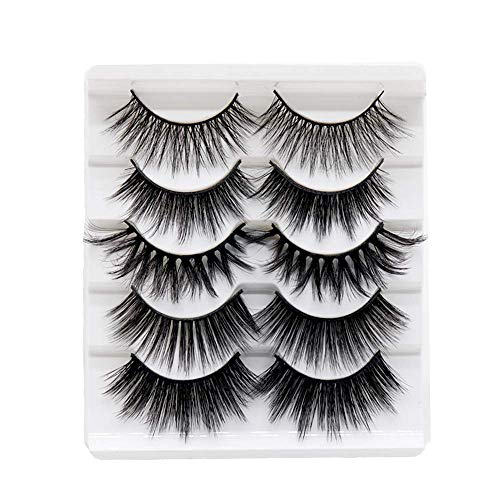 5 Pairs 3D Faux Mink Lashes Different Style Fake Lashes Natural Soft False Eyelashes for Makeup...