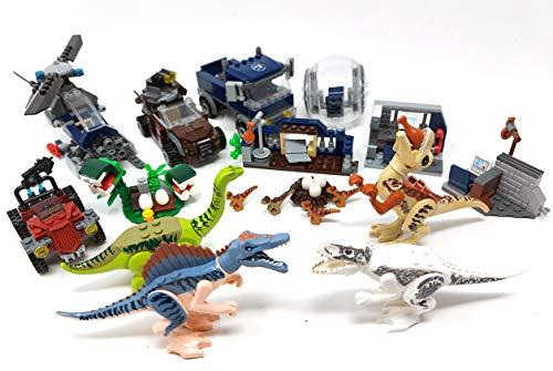 Juego de juguetes de dinosaurios Dino World con estación de investigación con helicóptero y vehículos