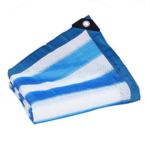 GFBHD Toldos Malla Resistente a los Rayos UV 85% Tasa De Sombreado | Color Raya Espesado Red De Protección Solar | Usado para Terraza Jardín Al Aire Libre Cochera (Color : Blue, Size : 4x6m)