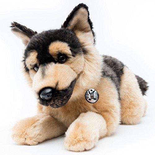 Kuscheltiere.biz Deutscher Schäferhund Charlie liegend 37 cm Plüschtier