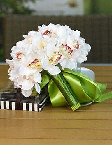 Aufrechtzuerhalten,Künstliche Blumen, Magnolie Hochzeitsstrauß Seidenstoff Hochzeit Braut mit Blumen