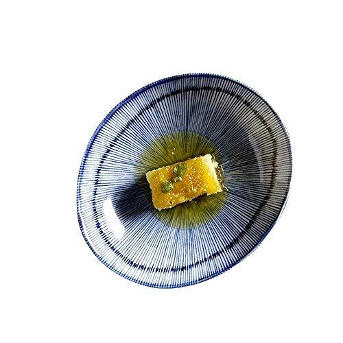 CAIJINJIN Tazón Cuenco de cerámica tazón de cerámica creativa Tazones Utensilios for el hogar guiso Ensalada Restaurante chino Postre del arroz Frutero 5,5 pulgadas