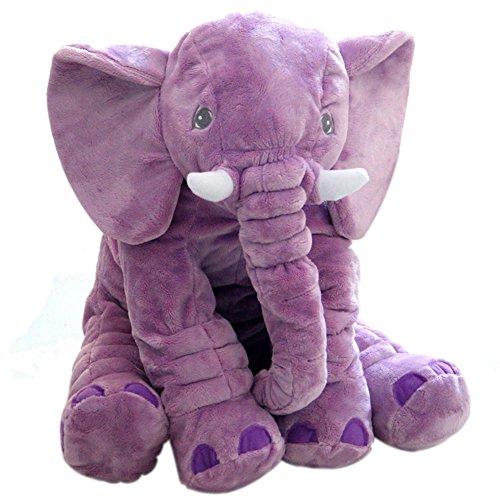 KiKa Mono Bebé Elefante Almohada Niños Elefante Juguete Gris Elefante Cojín Regalos para Niños Recién Nacidos (Morado)