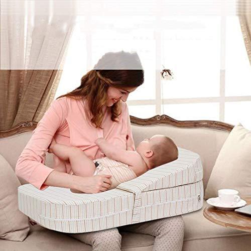 wieg wigkussen matras, baby zuur Reflux/spit melk Reducer, hoge dichtheid spons kussen, 15 graden cline, geheugen spons voor borstvoeding