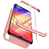 ivencase Cover Xiaomi Redmi Note 7 + Vetro Temperato, Premio Ibrido Rugged 3 in 1 Duro...