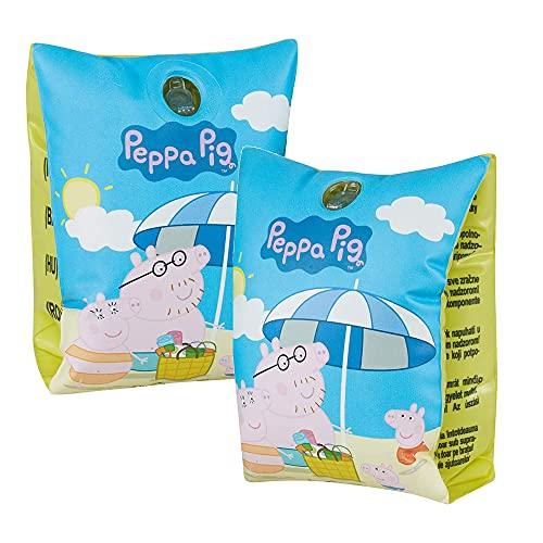 Smart Planet Peppa Pig - Manguitos de natación hinchables para niños de 1 a 6 años, 11 a 30 kg, diseño de Peppa Pig