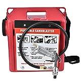 Sandblaster Sand, Portable 30LBS Pneumatic Sandblaster Gun Barrel Kit Cleaning Rust/Paint Remover Tool