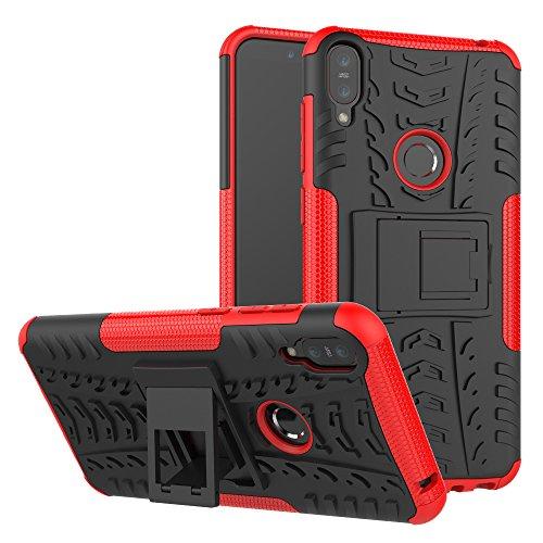 TiHen Cover ASUS ZenFone Max PRO M1,Custodia 360 Gradi + Pellicola Vetro temperato [2 Pezzi] Case Cover custodie Cellulare Stilosa Protettiva Bumper per ASUS ZenFone Max PRO M1 ZB601 602KL- Rosso