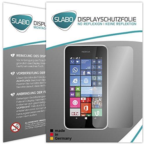 Slabo 2 x Bildschirmschutzfolie Nokia Lumia 530 Bildschirmschutz Schutzfolie Folie No Reflexion Keine Reflektion MATT - Entspiegelnd Made IN Germany