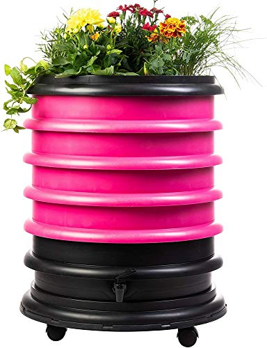 Why Should You Buy WormBox WB41FU Wormery Composter 4 Fuchsia Plus Planter-72 litres, 4 Trays + Plan...
