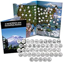 National Park Quarters Complete Date Set America the Beautiful Coins in Deluxe Color Book