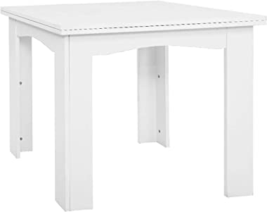 Artiss Extendable Dining Table Wooden for 4 to 6 Seats   White