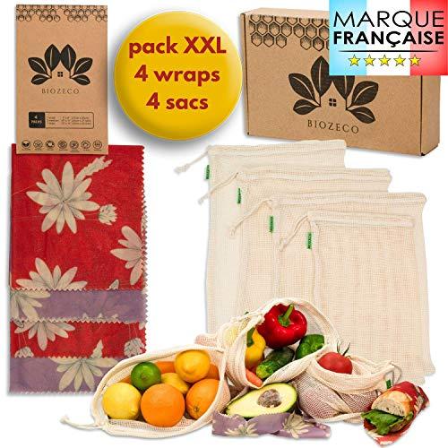 Lot 4 emballages alimentaires réutilisables - Biozeco