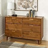 Walker Edison Furniture AZR6DSLDRCA Dresser Caramel