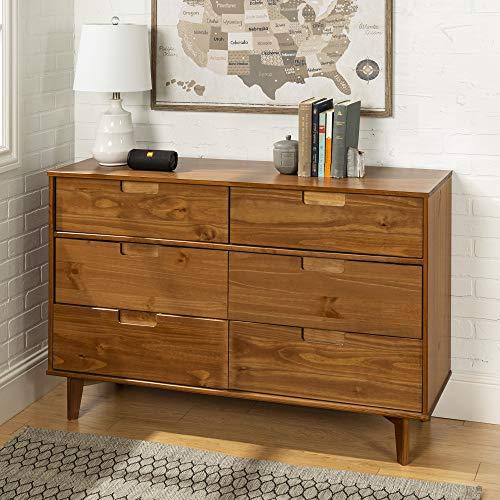 Eden Bridge Designs 6 Schublade Moderne Holzkommode, Holz, Karamellbraun, 132.08 x 40.64 x...