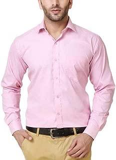 PSK Men's Regular Fit Pink Color Formal Shirt.