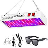 TOAD LED Grow Lights 600W, Dual Switch Full Spectrum Plant Grow Lamp, Dual Chips Plants Light for Hydroponic Indoor Veg and Flower with Daisy Chain Function, Sunglass(Dual Chips 10W LEDs 60Pcs)