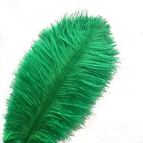 KOLIGHT Set van 10 stks 28~30 inch (70~75 CM) natuurlijke struisvogel veren voor DIY Thuis Bruiloft Party Office Decoratie Donkergroen